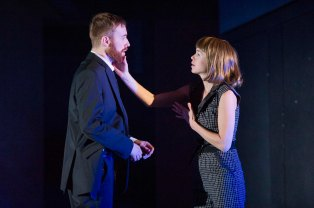 John Heffernan (Macbeth) and Anna Maxwell Martin (Lady Macbeth) in Macbeth. Photo by Richard Hubert Smith (2)