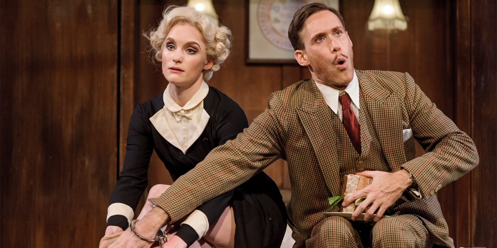 The 39 Steps 2016 tour - Olivia Greene as Pamela & Richard Ede as Hannay (c) Dan Tsantilis