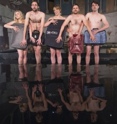 Volcano Theatre's Seagulls present the Fringe festival's first man made lake in St.James's Church in Leith Featuring: Volcano Theatre Where: Edinburgh, United Kingdom When: 08 Aug 2017 Credit: Euan Cherry/WENN.com