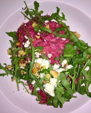 beetroot and blue cheese risotto