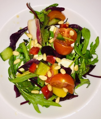 brie and pine nut salad