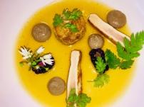 rabbit, wild garlic, mushroom